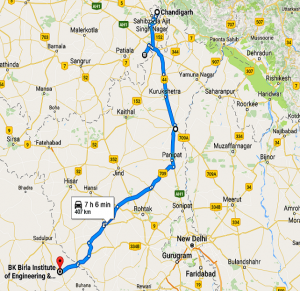 cahndigarh-to-pilani-rout-2
